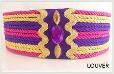 #Louvermarbella#cinturones#cordon#dorado#morado#fucsia#complementos