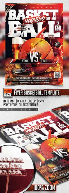 Basketball Flyer Template PSD. Download here: http://graphicriver.net/item/flyer-basketball-template/14733690?ref=ksioks