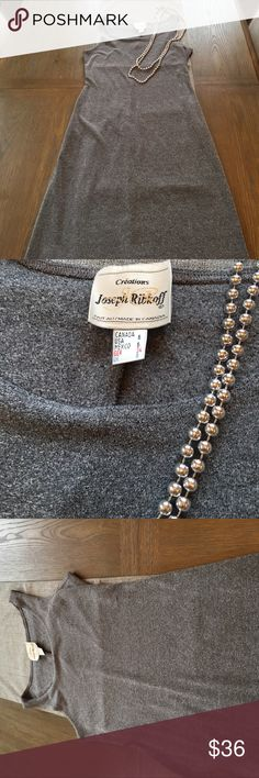 """Joseph Ribkoff Dress Gray Joseph Ribkoff Dress. From shoulder to hem is 46"""". Material is great for fall and winter. Small pull barely visible. (pictured). Joseph Ribkoff Dresses"""