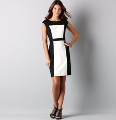 They always show women in color block dresses on weight loss commercials and they look so good. I want one!    Loft color block dress