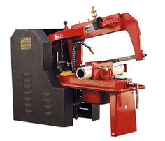 Hydraulic Power Hacksaw is used to cut metal pieces such as steel  http://www.machinedock.net/hydraulic-power-hacksaw-machine