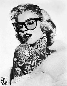 Marilyn Monroe in tattoos