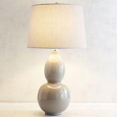 Primavera Taupe Table Lamp Gray