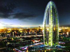 Construções futuristas que imitam a natureza.