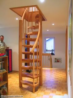 Tiny house stairs ideas tiny house stair ideas attic stairs ideas elegant amazing loft stair for . tiny house stairs ideas how to design storage Attic Staircase, Loft Stairs, Basement Stairs, Staircase Design, Attic Ladder, Staircase Ideas, Space Saving Staircase, Spiral Staircases, Small Staircase
