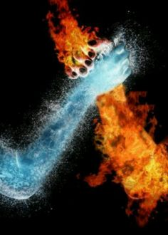 17 Fantastic Examples of Water Photo Manipulation 'The Challenge: water vs fire' Fire Vs Water, Fire N Ice, Air Fire, Illustration Art Dessin, Ice Pictures, Twin Flame Love, Ice Art, Fotografia Macro, Photoshop