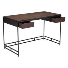 Studio Desk Espresso & Metal