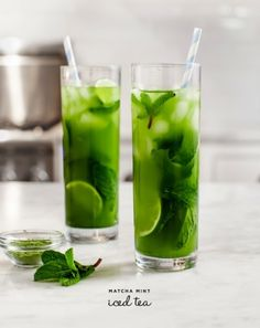 Matcha Mint Iced Tea: http://www.stylemepretty.com/living/2014/06/30/ultimate-ice-tea-round-up/