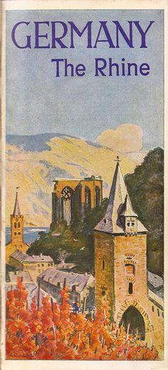 German Railways guide - The Rhine, illustrated by Bruno Bielefeld?, 1936 by mikeyashworth,