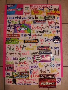 Pin By May Mad On Gift Ideas Birthday Candy Birthday Best Friend Valentines Day Card Birthday Gifts For Best Friend Candy Poster Birthday Candy
