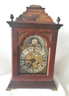 Listed on eBay this Rare English Antique Pendulum Bracket Clock, Moon Phase, Date 1844-49 Japy Fils