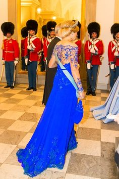 Queen Maxima of the Netherlands attends a State Banquet at Christiansborg Palace during the state visit of King WillemAlexander and Queen Maxima of the Netherlands on March 17 2015 in Copenhagen. Dutch Queen, Royal Families Of Europe, Estilo Real, Royal Tiaras, Royal Queen, Dutch Royalty, Queen Maxima, Royal Weddings, Nassau