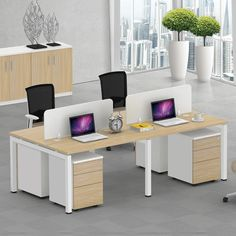 Modern customized open space office furniture melamine 4 seats office partition