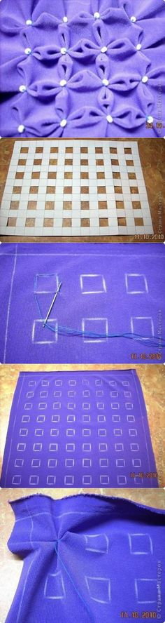 Sewing Stitches For Beginners Embroidery Techniques, Sewing Techniques, Embroidery Stitches, Hand Embroidery, Sewing Art, Baby Sewing, Sewing Crafts, Sewing Projects, Smocking Tutorial