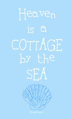 Heaven is a cottage by the sea. With Jesus any my Benben ❤ Coastal Cottage, Coastal Style, Coastal Decor, Coastal Living, Cottage Living, Cottages By The Sea, Beach Cottages, I Need Vitamin Sea, Haus Am See