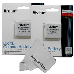 NB-6L / NB-6LH Ultra High Capacity 1700mAH Li-ion Replacement Batteries for Select Canon Digital Cameras, Pack of 2 - For Sale Check more at http://shipperscentral.com/wp/product/nb-6l-nb-6lh-ultra-high-capacity-1700mah-li-ion-replacement-batteries-for-select-canon-digital-cameras-pack-of-2-for-sale/