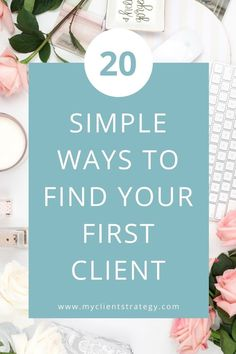 This contains: Here are 20 simple ways to find your first client for your service business. #findclients #marketing \\ clients \\ business tip \\ starting my own business \\ how to market your business \\ marketing yourself \\ marketing tips \\ small business marketing Marketing Budget, Online Marketing Strategies, Small Business Marketing, Business Tips, Online Business, Marketing Ideas, Media Marketing, Digital Marketing, Entrepreneur Motivation