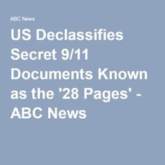 US Declassifies Secret 9/11 Documents Known as the '28 Pages' - ABC News