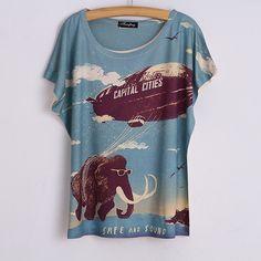 New 2015 summer women Top sales tiger Printed Tshirt For Women | PinkPenguinBoutique
