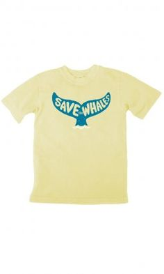 Earth Creations - Save the Whales on Toddler/Youth Organic Tee