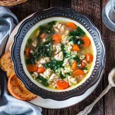 Nothing warms you up like a cozy bowl of Turkey, Kale and Rice Soup! Loaded with nutrients and low in fat, so you can stay healthy all year long!