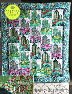 Amy Butler Glow House Quilt - isn't it gorgeous? Wish I knew how to quilt!