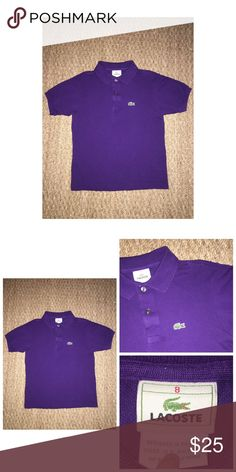 Lacoste Polo Shirt Pre•loved Lacoste Polo Shirt • Size 8 • Made of 100% Cotton • Excellent condition Lacoste Shirts & Tops Polos