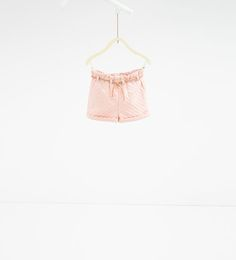 ZARA - SALE - Polka dot jacquard Bermuda shorts