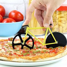 Fahrrad Pizzaschneider - Sportliches Utensil zum Pizzaschneiden - Geschenkideen für Frauen