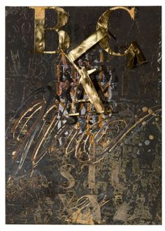 Black, 2014, mixed media on paper, canvas and corten iron, cm 70x50