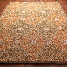 Diamond Scroll Indoor Outdoor Rug: 3 Colors 8X10 = $560 (Dining room)