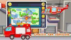 Choisis ton véhicule en fonction de la mission qui t'attend ! dans KIKI PETIT POMPIER - #BABYBUS https://play.google.com/store/apps/details?id=com.sinyee.babybus.fireman&hl=fr #application #éducative #enfant #tablette #smartphone #pompier #camion #panda #kidsapp