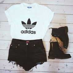 adidas originals + doc martens Cute Outfits For Summer a1861a7ced85d