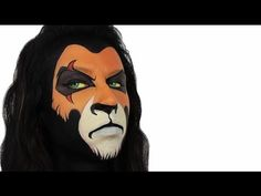 Ashlea Henson - Scar Lion King (Disney) face paint #Snazaroo #facepaint #Halloween