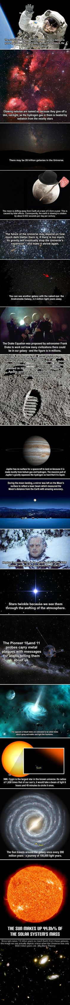 Space geeks rejoice! Here are some fun and cool facts that just might surprise you.