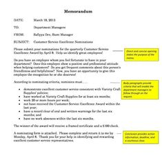 A memo is a type of document used to communicate with others in the same organization
