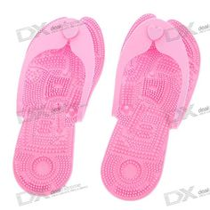 Stylish Plastic Massage Flip-Flops Sandals - Pink (Size S)