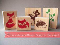 Fox Woodland herfst herfst bos stempel slapen Fox door stampcouture