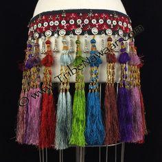 Tribe Nawaar's royal silk tribal tassel belt 6