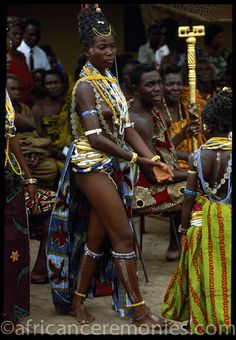 Africa | Krobo girl at Dipo Initiation Ceremony, Ghana | ©Angela Fisher and Carol Beckwith