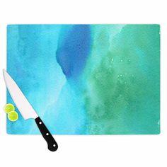 Kess InHouse Li Zamperini 'Marine' Green Blue Cutting Board
