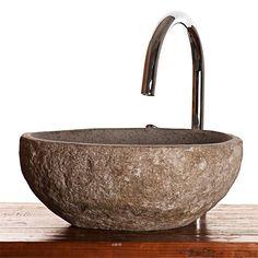 Tvättställ Hill Natural Stone Tibern River Stone Mini