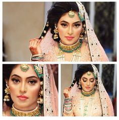 Beautiful Pakistani bride by Natashas. Jewelry by House of Mo:r Desi Bride, Desi Wedding, Wedding Wear, Wedding Bride, Indian Bridal Wear, Asian Bridal, Pakistani Bridal, Bridal Outfits, Bridal Dresses