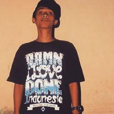 """Anjar ox's , rapper from tangerang city indonesia wearing my design, :) #tshirt #designthirt #design #typo #typography #digital #manualprinting"" Photo taken by @vigrachandra on Instagram, pinned via the InstaPin iOS App! http://www.instapinapp.com (06/14/2015)"