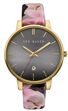 Ted Baker Kate Classic Stainless Steel Case   Printed Leather Strap Watch  Ted Baker Watches de08d36c158