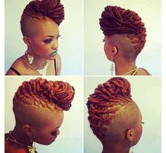 Try easy Black Hairstyles with Shaved Sides and Back 95974 Dreadlock Mohawk Hairstyle for Women Black Hairstyles with Shaved ideas using step-by-step hair tutorials. Dreadlock Mohawk, Dreadlock Styles, Dreads Styles, Dreadlock Hairstyles, Braided Hairstyles, Black Hairstyles, Shaved Hairstyles, Crazy Hairstyles, Braided Mohawk