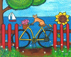 Bicycle cat by ~nsca on deviantART