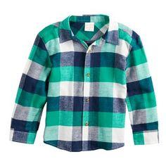 3c0ab2fc7 Baby Essentials Baby Boy Jumping Beans Plaid Flannel Button Down Shirt