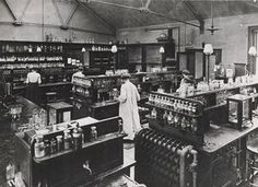 Cemistry lab at Bedford College in 1874. | Photograph: Archives, Royal Holloway, University of London