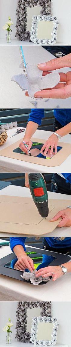 DIY Egg Carton Decorative Mirror DIY Projects / UsefulDIY.com